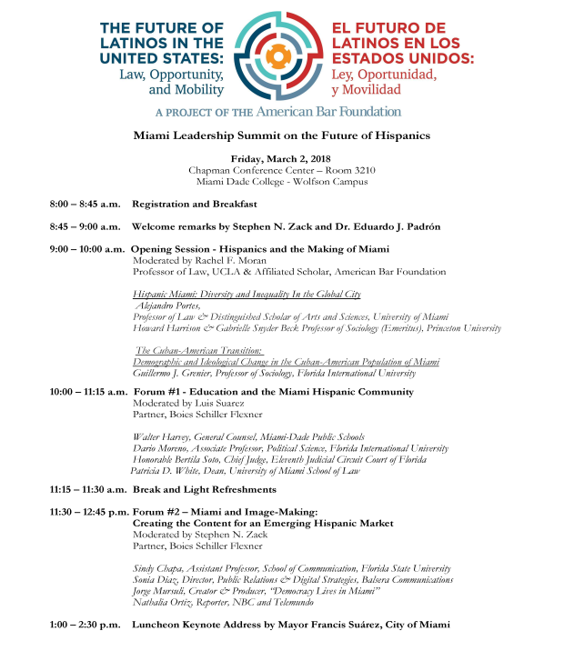 Miami Leadership Summit - Schedule